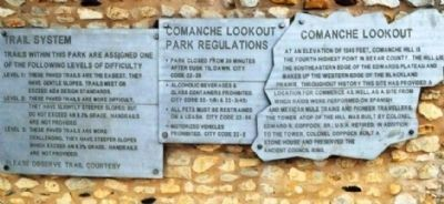 Comanche Lookout Marker image. Click for full size.