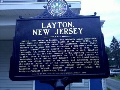 Layton, New Jersey Marker image. Click for full size.
