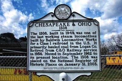 Chesapeake & Ohio 1308 Marker image. Click for full size.