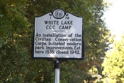 White Lake CCC Camp Marker image. Click for full size.