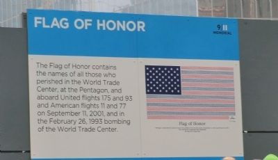 Flag of Honor Marker image. Click for full size.