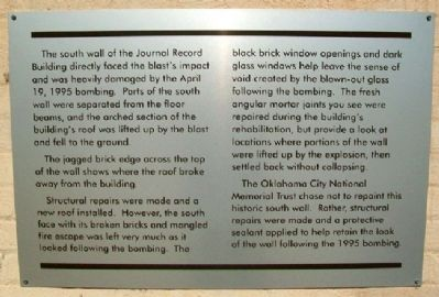 Journal Record Building South Wall Marker image. Click for full size.