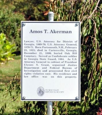 Amos T. Akerman Marker image. Click for full size.