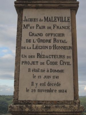 Jacques de Maleville Marker image. Click for full size.