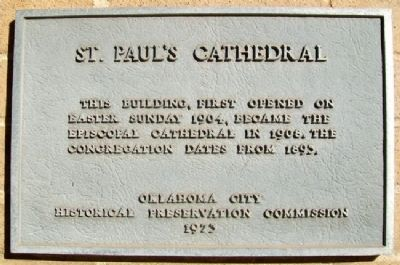 St. Paul's Cathedral Marker image. Click for full size.