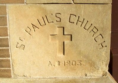 St. Paul's Cathedral Cornerstone image. Click for full size.