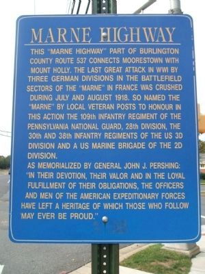 Marne Highway Marker image. Click for full size.