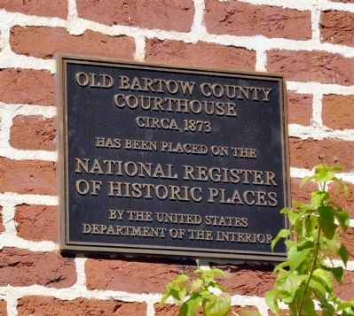 Old Bartow County Courthouse Marker image. Click for full size.