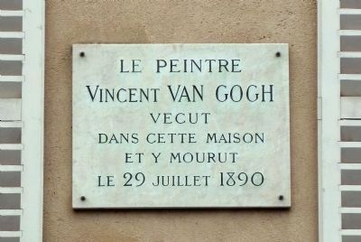 Van Gogh at the Ravoux Inn Marker image. Click for full size.
