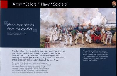 "Army ""Sailors,"" Navy ""Soldiers"" Marker image. Click for full size."