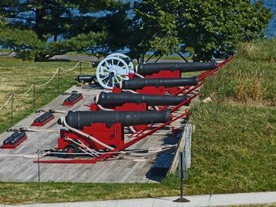 Reconstructed Water Battery at Fort McHenry image. Click for full size.