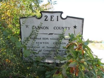 Cannon County Marker image. Click for full size.