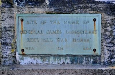 Site of the Home of General James Longstreet Marker image. Click for full size.