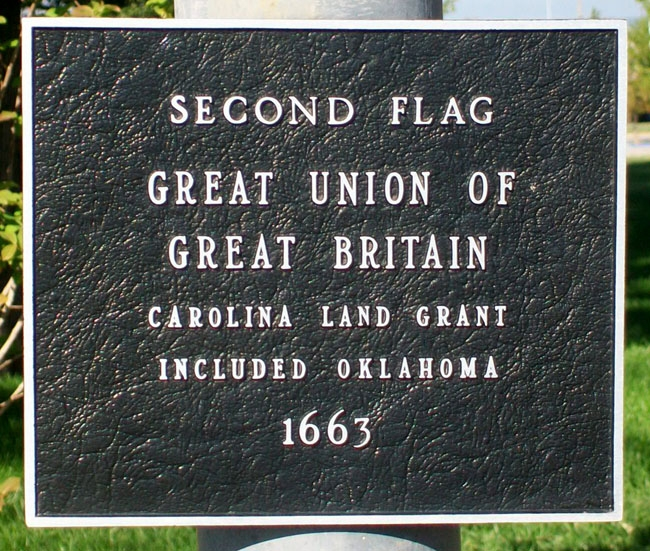 Flags Flown Over Oklahoma Marker