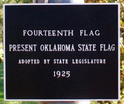 Flags Flown Over Oklahoma Marker image. Click for full size.