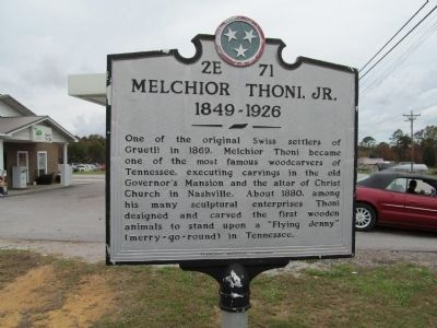 Melchior Thoni, Jr Marker image. Click for full size.