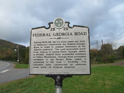 Federal - Georgia Road Marker image. Click for full size.