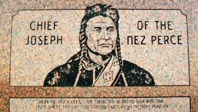 Chief Joseph of the Nez Perce Marker Detail image. Click for full size.