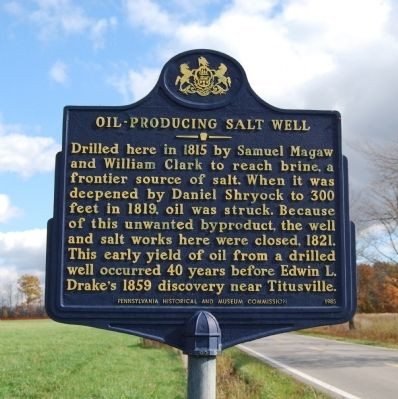Oil-Producing Salt Well Marker image. Click for full size.
