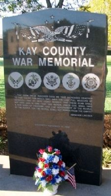 Kay County War Memorial image. Click for full size.