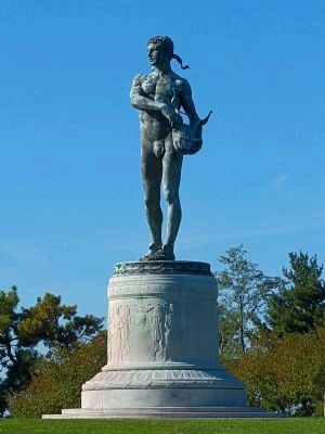 Francis Scott Key Memorial (Statue of Orpheus) at Fort McHenry image. Click for full size.
