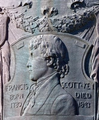 Francis Scott Key on the Memorial at Fort McHenry image. Click for full size.