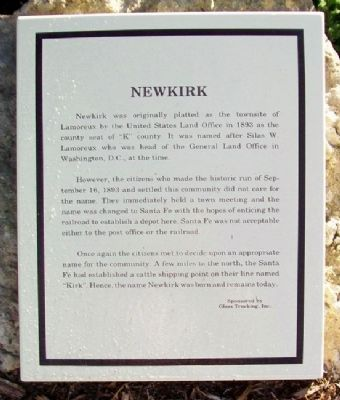 Newkirk Marker image. Click for full size.