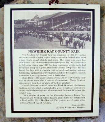Newkirk Kay County Fair Marker image. Click for full size.