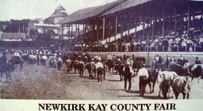 Photo of Newkirk Kay County Fair on Marker image. Click for full size.