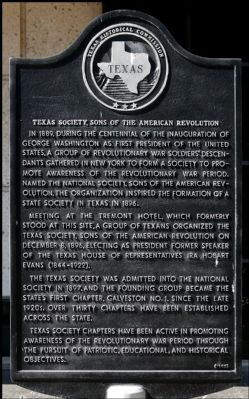 Texas Society, Sons of the American Revolution Marker image. Click for full size.