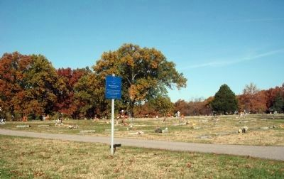 Full View - - (South Entrance Drive) Oakland Cemetery Marker image. Click for full size.