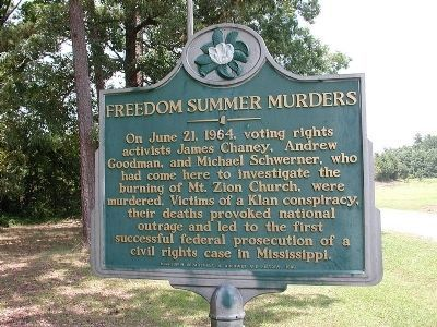 Freedom Summer Murders Marker image. Click for full size.