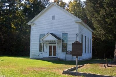 Bethel Methodist Church with Marker image. Click for full size.