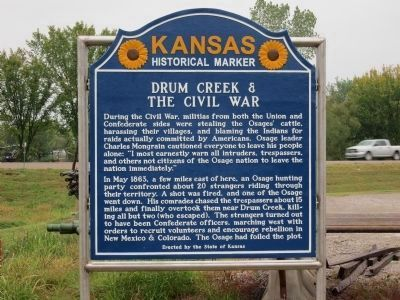 Drum Creek and the Civil War Marker image. Click for full size.
