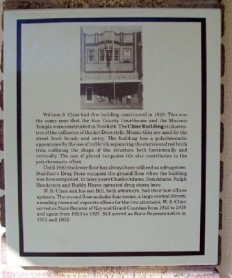 The Cline Building Marker image. Click for full size.