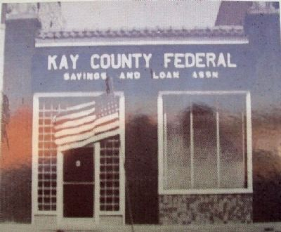 Photo of Kay County Abstract Building on Marker image. Click for full size.
