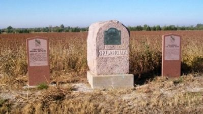 Chilocco Indian School, Cherokee Strip DAR, and Oklahoma, The Indian State Markers image. Click for full size.