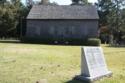 Old Brown Marsh Presbyterian Church and Marker image. Click for full size.
