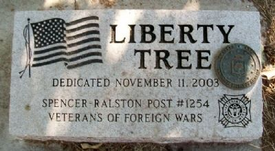 Korean War Liberty Tree Memorial Marker image. Click for full size.