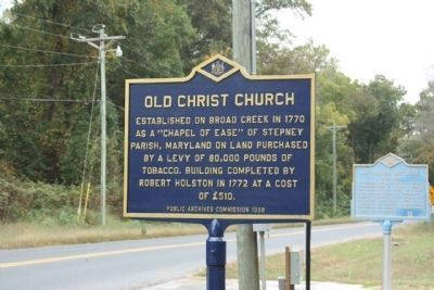 Old Christ Church Marker, new paint scheme image. Click for full size.