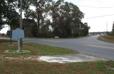 Nathaniel Mitchell Marker at intersection of Chipman's Pond Road and Christ Church Road image. Click for full size.