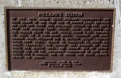 Pollard's Station Marker image. Click for full size.