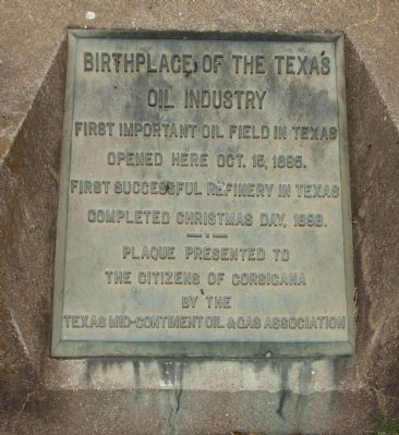 Birthplace of the Texas Oil Industry Marker image. Click for full size.