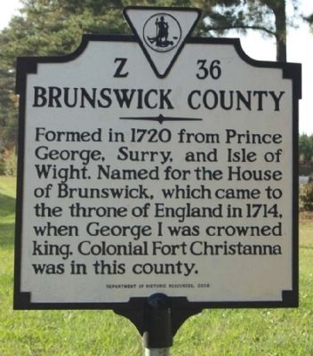 Brunswick County Marker image. Click for full size.