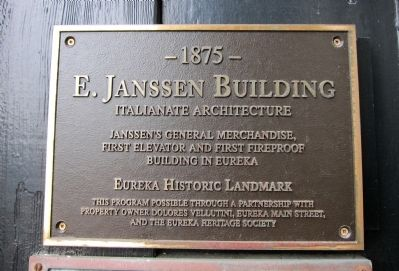 E. Janssen Building Marker image. Click for full size.