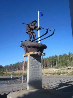 Snowshoe Thompson Monument image. Click for full size.