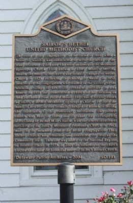 Sailor's Bethel Methodist Church Marker image. Click for full size.