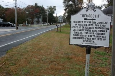 """Rehoboth"" Marker, seen along Maryland Route 14 image. Click for full size."
