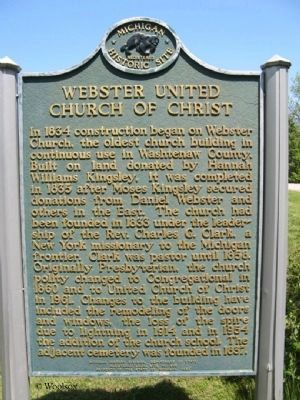 Webster United Church of Christ Marker image. Click for full size.