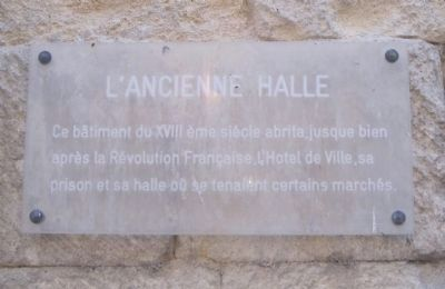 L'ancienne Halle Marker image. Click for full size.